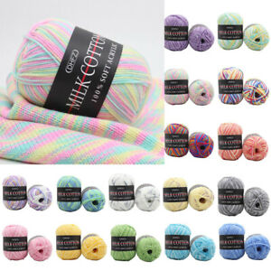20-Colors-Soft-Cotton-Yarn-Knitting-Wool-Yarn-Bamboo-Crochet-Line-Craft-DIY-1pc
