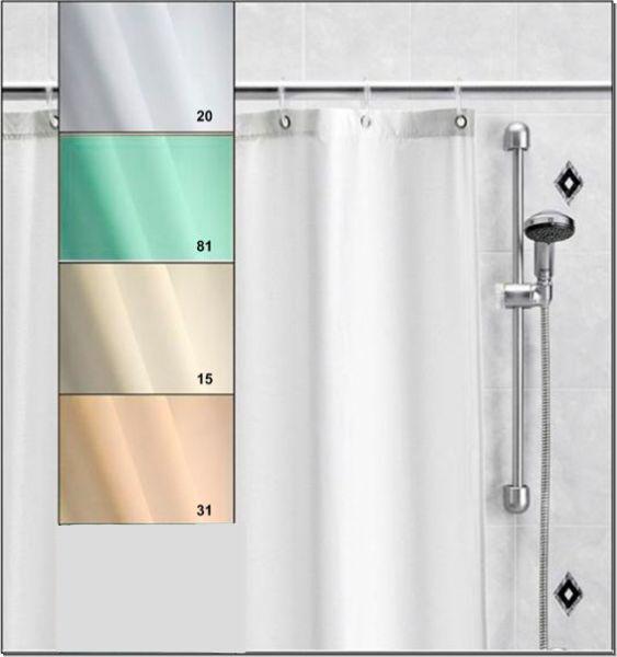 Duschvorhang nach Maß Narbonne bis 200 cm hoch fix fertig genäht  Ösen Edelstahl       Zuverlässige Qualität