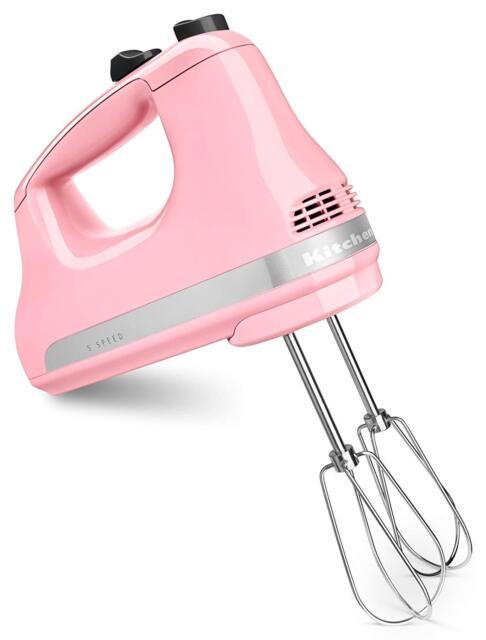 in Box KitchenAid Hand Mixer 5 Speed Pink Guava Glaze KHM512GU