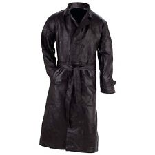item 5 Mens Black Genuine Leather Full Length Lined TRENCH COAT Duster Long  Over Jacket -Mens Black Genuine Leather Full Length Lined TRENCH COAT Duster  ... 5c9f10c9232c