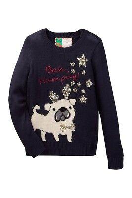 NWT Girls Blue size 5 100/% Poof Girl Sweater w//Fox