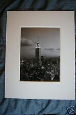 EMPIRE STATE BUILDING NOTTE NEW YORK QUADRO STAMPA MANHATTAN MONTATO 11x14
