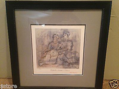 "P. Picasso Lithograph ""The Lovers"" Lmtd Edition from Collection Domaine Picasso"