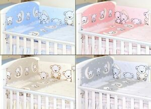 TEDDY-PATTERN-Baby-Bedding-Set-fit-Cot-120x60cm-or-Cot-Bed-140x70-BABY-GIRL-BOY
