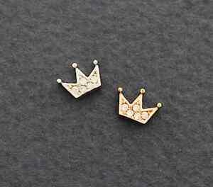 Image Is Loading Tiara Cartilage Earring Crown Tragus Pinna Piercing Cute