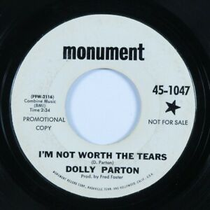 Country-45-DOLLY-PARTON-I-039-m-Not-Worth-the-Tears-MONUMENT-promo-HEAR