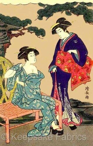 Geisha Girls Beauty Crazy Quilt Block Multi Sizes FrEE ShiPPinG WoRld WiDE 6D