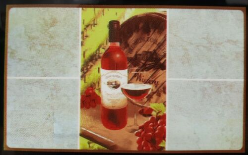 "KITCHEN STOVE BACKSPLASH Wall Sticker GR 30/""x18/"" WINE /& GRAPES IN THE MIDDLE"