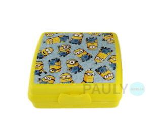 Tupperware-Minions-Sandwich-Box-Lunchbox-Brotdose-Pausen-Dose-Schule-Kinder-Box