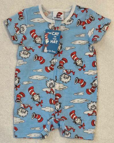 Dr Seuss Gato En El Sombrero Zippy Mameluco Tallas 0 y 1 Nuevo con etiquetas