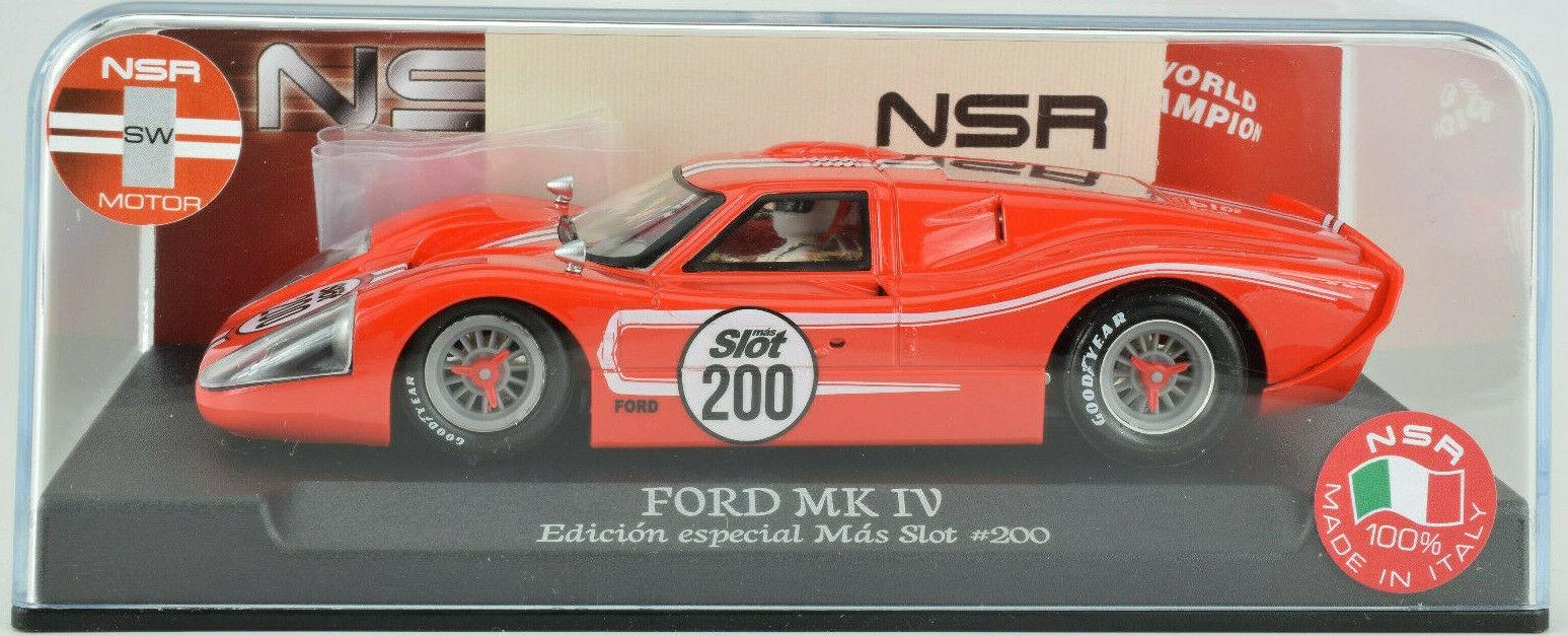 NSR Ford Gt40 Mk.iv - Mas Schlitz Spezial Edition 1 32 Maßstab Slotcar 0091