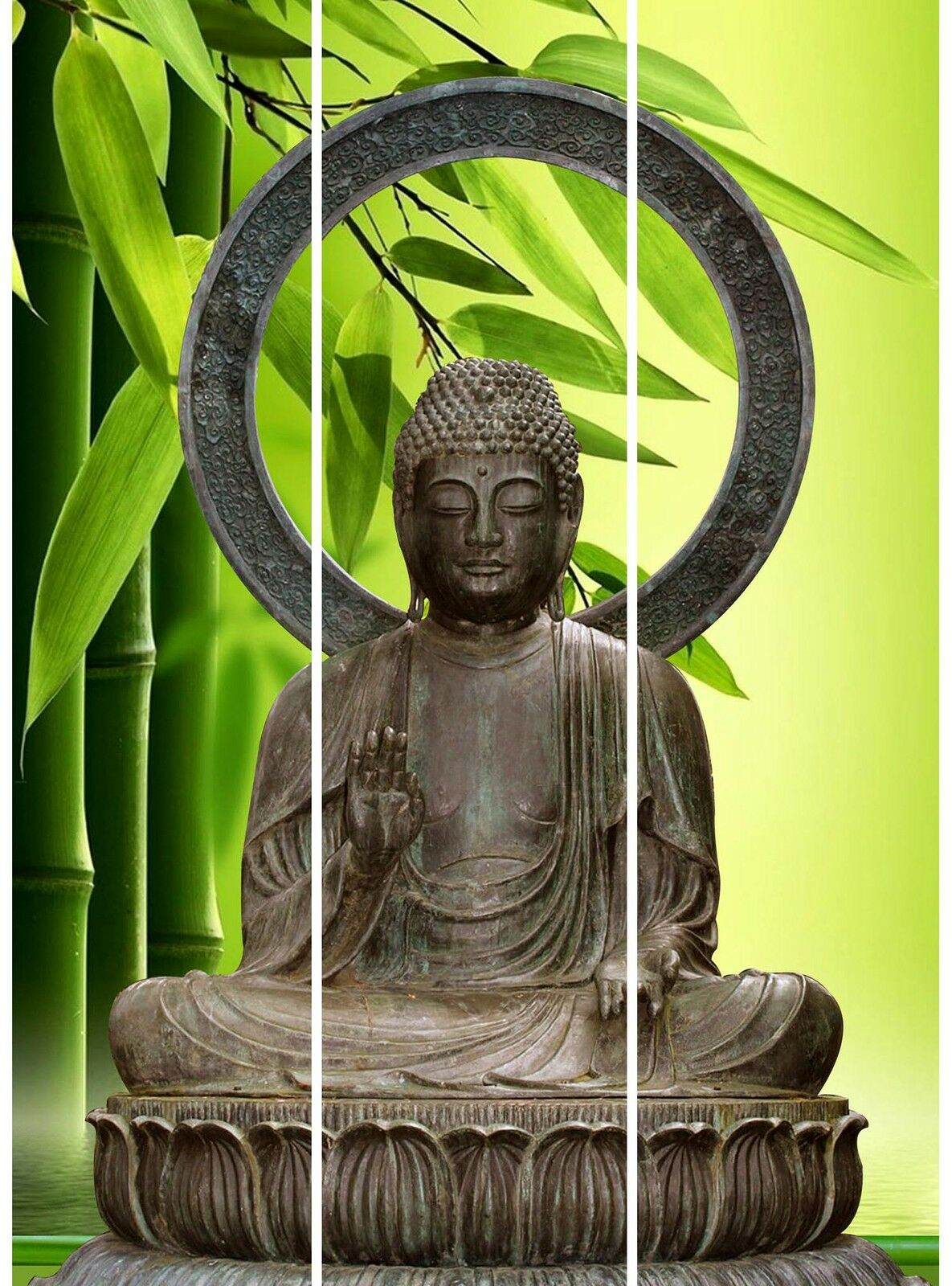 8041 Raumteiler Silence Paravent Trennwand Sichtschutz Hofmann 2 Motive Buddha