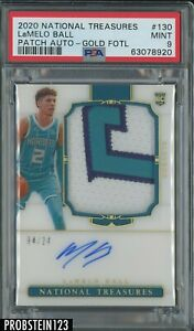 2020 National Treasures FOTL GOLD LaMelo Ball RPA RC Rookie Patch 4/24 PSA 9