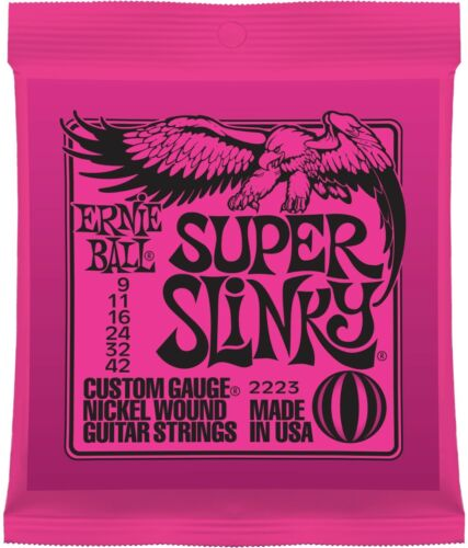 Nickel Wound Electric Ernie Ball Super Slinky 009-042