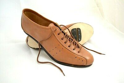 SCARPE CICLISMO VINTAGE CYCLING SHOES EROICA VERA PELLE MARRONE MADE IN ITALY