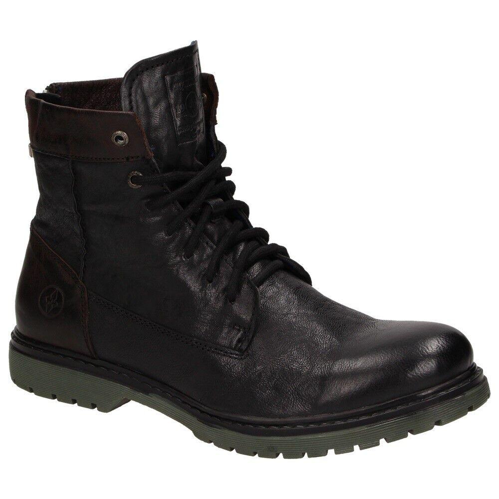 ARQUEONAUTAS Dover Zapatos piel hombre hombre hombre botas de cordón Combate Cremallera 235352