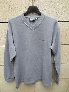 Pull-EDEN-PARK-rugline-col-V-gris-rugby-shirt-S
