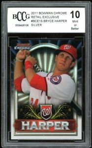 2011 Bowman Chrome Retail Silver #BCE1S Bryce Harper Rookie BGS BCCG 10 Mint+