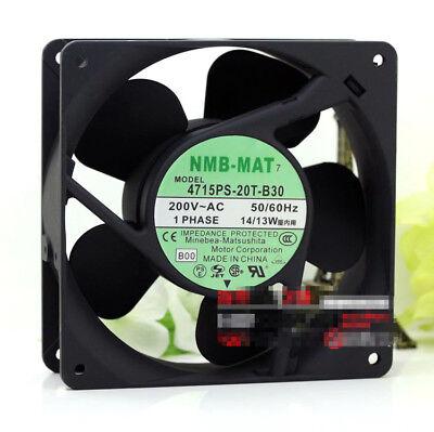 NMB 4715PS-20T-B30 Aluminum frame AC Cooling fan AC200V 14//13W 120*120*38MM 2pin