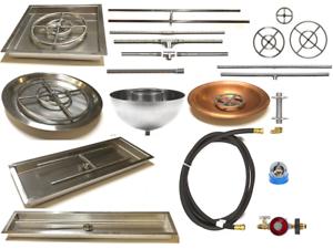 Crea tu propia función de fuego de gas con un kit completo básico-elige Quemador Y Pan