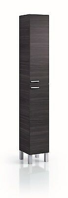 Koncept Tall Narrow Bathroom Cupboard Black Gloss White Furniture Unit Cabinet