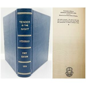 """Tender is the Night – FIRST EDITION – """"A"""" + Seal – F. Scott FITZGERALD 1934 1st"""