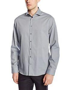 Seidensticker Camicia Nera Rose Slim Fit Grigio/Bianco a Quadri Patch 241637.34  </span>