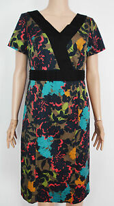 New-Pepperberry-size-12-RC-Floral-Multicolour-Shift-Dress