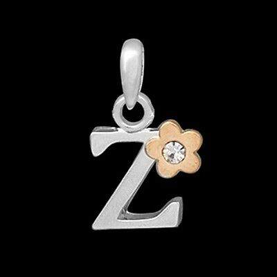 New Novelty Quality Alphabet Letters Charm Pendants with Gem Set Flower