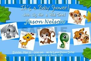 Image Is Loading JUNGLE SAFARI ZOO 1ST BIRTHDAY PARTY INVITATION BABY