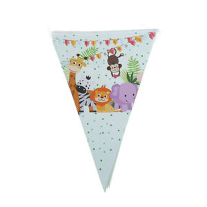 10pcs-flags-lot-Safari-Animals-Banner-Garland-For-Kids-Birthday-Party-DecJJ