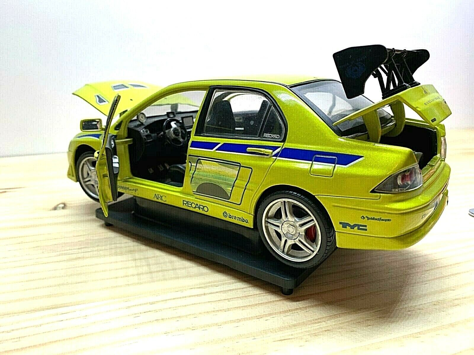 Fast and Furious movie mitsubishi lancer rare collectible FREE SHIP WORLDWIDE