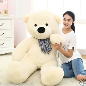80cm-180cm-Plush-Teddy-Bear-Giant-Bow-Tie-birthday-Stuffed-Soft-100-Cotton-Toy