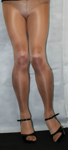 American Tan 80 Denier High Quality Ex Large size Fabulous Shimmer Effect Tights