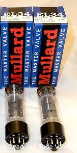 Mullard-Platinum-Factory-Matched-PAIR-EL34-6CA7-tubes-NEW