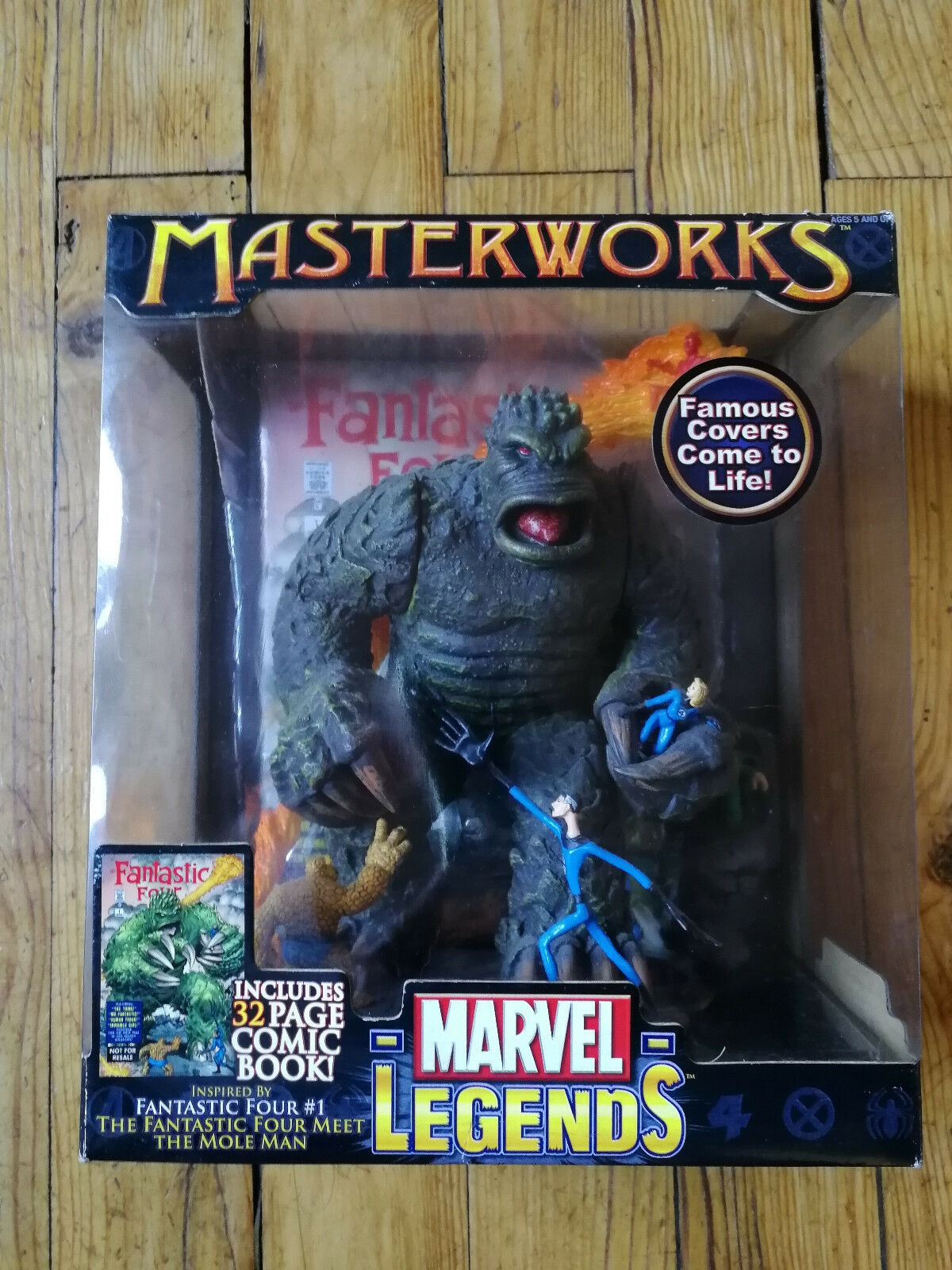 Marvel Legends Masterworks Fantastic Four vs Mole Man FF