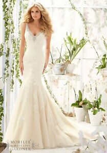 Mori Lee Ivory Wedding Dress Bridal Gown Morilee Style 2803 Size 10