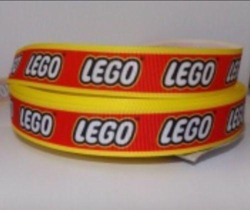 Craft 1 m Lego briques brick Gros-Grain Ruban gâteau Hair Bow Gratuit Rapide Postage!
