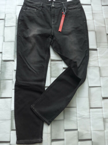 393 Sheego Stretch Jeans Hose Gr 44 bis 56 Übergröße Black Schwarz 459