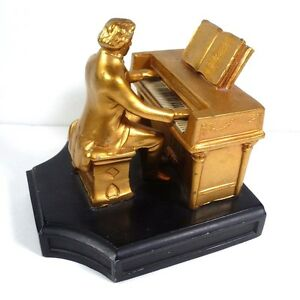 Antique 1932 j b hirsch beethoven at piano bookend ebay - Piano bookends ...
