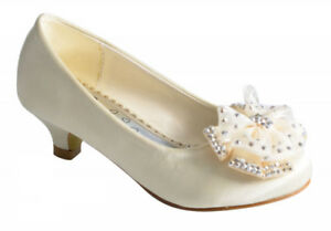 Infant-Girls-Party-Wedding-Dress-Low-Heel-Ballerina-Shoe-Size-10-11-12-13-1-2-3