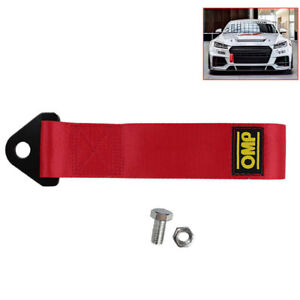 High-Strength-Racing-Red-Car-Tow-Strap-Set-for-Front-Rear-Bumper-Towing-Hook