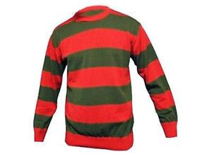 Fancy Dress Freddy Krueger Nightmare Sweater Glove Horror Jumper