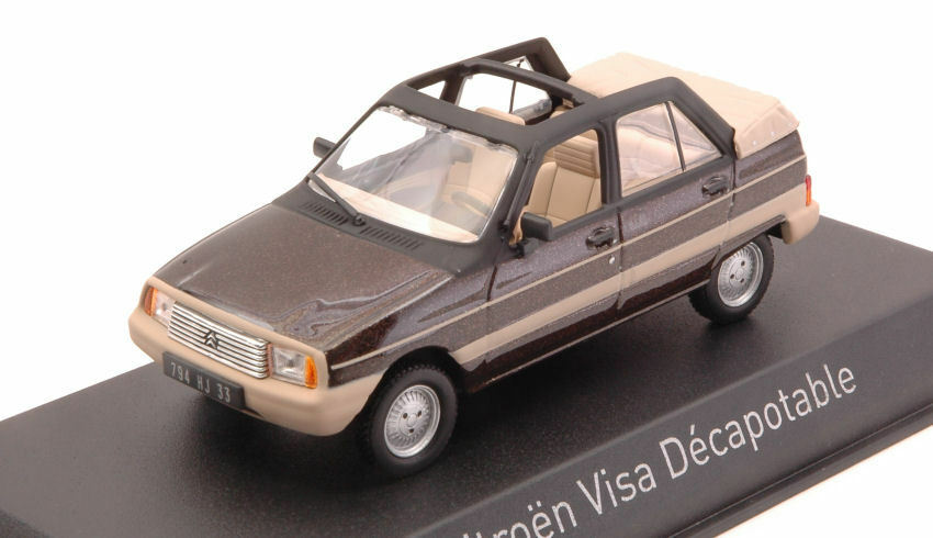 Citroen Visa Decapotable 1984 Vison marron 1 43 Model 150943 NOREV