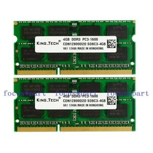 8GB-2X-4GB-PC3-12800-DDR3-1600Mhz-16chips-204pin-Laptop-Memory-So-DIMM-RAM-mac