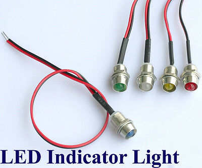 5 LED Indicator Light Lamp Pilot Dash Directional Car Truck Boat 12V