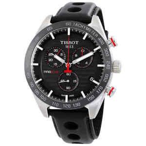 Tissot-PRS-516-Chronograph-Black-Dial-Men-039-s-Watch-T100-417-16-051-00
