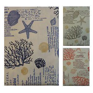 Copriletto-Matrimoniale-in-cotone-cannete-disegno-marino-corallo-034-Ponza-034-leggero