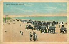Florida, FL, Daytona, Cars on Beach 1920's Postcard