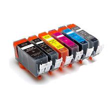 6 PK New Ink Set + Smart chip for Canon PGI-220 CLI-221 MP980 MP990
